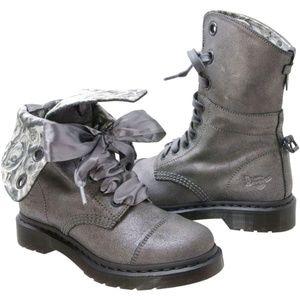 Dr. Martens Aimilie Metallic Combat Boot NEW